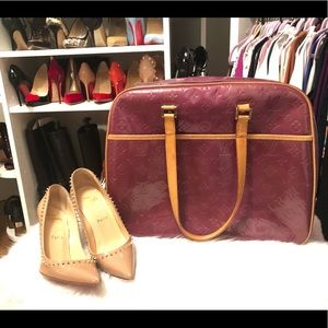 💕Auth Monogram Louis Vuitton Vernis purple Sutton